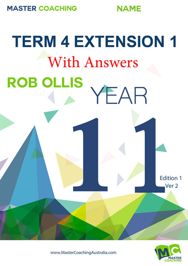 Term4 Extension 1 with Answers