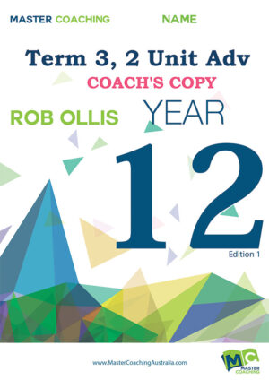 Year 12 2 Unit Adv Term 3 Coach